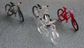 透明アクリル製自転車 ママチャリセット